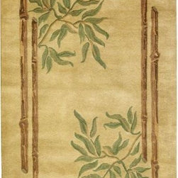 Home Decorators Collection - Bamboo I Area Rug - Bamboo Area Rugs, from the popular Montaigne Collection, are extremely thick and dense hand-tufted wool rugs. Asian influence rugs are sure to add distinctive design to any room.  You will love these colorful area rugs that are carefully crafted of high-quality 100% wool. Wool rugs are a natural choice when you want the best quality in a floor covering because they offer a thick and dense texture, and they're extremely durable. Canvas over latex backing adds to the durability. Order now to add the beauty of an Asian influenced floor covering to any space in your home.