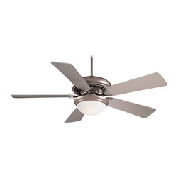 """Minka Aire - Minka Aire F569-BS Supra Brushed Steel 52"""" Modern Ceiling Fan + Remote Control - Features:"""