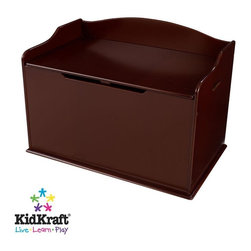 KidKraft - Austin Toy Box - Cherry by Kidkraft - Our Austin Toy Box lets kids keep all of their favorite toys in one convenient place. This sturdy toy box was built to last and would fit right in with any room setting.