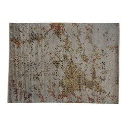 1800-Get-A-Rug - Bamboo Silk Modern Broken Design Hand Knotted Oriental Rug Sh19530 - Bamboo Silk Modern Broken Design Hand Knotted Oriental Rug Sh19530