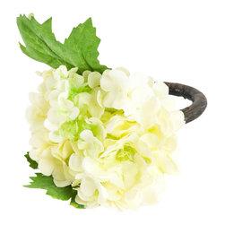 "Saro - Viburnum Napkin Ring, 4"" - White SET/4 - Viburnum Napkin Ring, 4"" - White SET/4"