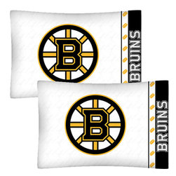 Store51 LLC - NHL Boston Bruins Hockey Set of 2 Logo Pillow Cases - FEATURES: