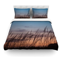 "Kess InHouse - Catherine McDonald ""Sunset on the Beach"" Cotton Duvet Cover (Twin, 68"" x 88"") - Rest in comfort among this artistically inclined cotton blend duvet cover. This duvet cover is as light as a feather! You will be sure to be the envy of all of your guests with this aesthetically pleasing duvet. We highly recommend washing this as many times as you like as this material will not fade or lose comfort. Cotton blended, this duvet cover is not only beautiful and artistic but can be used year round with a duvet insert! Add our cotton shams to make your bed complete and looking stylish and artistic! Pillowcases not included."