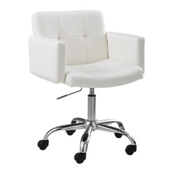 Churchill Office Chair, White