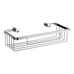 Sideline Collection Narrow Soap Basket - This shower basket is compact and narrow, allowing you to keep your shower accessories nearby without taking up too much space.  The sleek design and clean finishes will blend well in almost any decor.