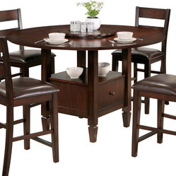 Steve Silver Gibson Casual 42 Inch Round Counter Height Table in Espresso