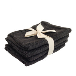 SHOO-FOO - Bundle of 4 Bamboo Bath Mitts - Charcoal Grey - The charcoal bamboo bath mitts are made in the same European design as our original bamboo bath mitts. To use the bath mitt you simply place your hand in the pocket and use it to gently scrub your skin. You can also place a bar of soap inside the pocket of the mitt so it supplies you with continual suds during your bath or shower.