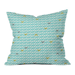 Heather Dutton Take Flight Aqua Outdoor Throw Pillow - Do you hear that noise? it's your outdoor area begging for a facelift and what better way to turn up the chic than with our outdoor throw pillow collection? Made from water and mildew proof woven polyester, our indoor/outdoor throw pillow is the perfect way to add some vibrance and character to your boring outdoor furniture while giving the rain a run for its money.