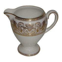 Wedgwood - Wedgwood Florentine Gold W4219 Creamer (Globe Shape) - Wedgwood Florentine Gold W4219 Creamer (Globe Shape)