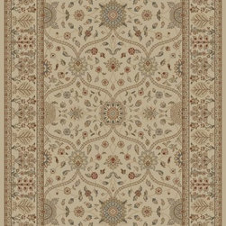 "Concord Global - Concord Global Jewel Voysey Ivory 9'3"" x 12'6"" Rug (4901) - Jewel collection is machine-made in Turkey using 100% heat-set polypropelene. These traditional to contemporary rugs will make a colorful addition to any area."