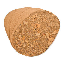 The Felt Store - Dark Table Mat - Oval, 400 X 300 X 3mm - The Felt Store's Dark Table Placemat - Oval adds an eco-friendly twist to your table! This product is truly versatile as it is reversible to display either the contemporary fine grain cork or turn it over for the exotic look of marble cork! This Cork Placemat is oval in shape and measures approximately 16 inches long, 12 inches wide and 0.10 inches thick. These Cork Placemats will bring natural and unique beauty to your table! This package contains 4 cork table mats. This product can be wiped clean with a damp cloth.