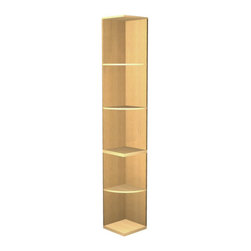 """EcoWineracks Quarter Round Shelf - 94.96"""" High, Golden Color, Clear Acrylic Fini - EcoWineracks Quarter Round Display Rack is the way to finish off a wall of wine racks with a smooth curving transition to the wall."""