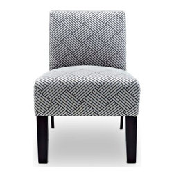 Allegro Accent Chair - Add contrast and beauty to any room with the Allegro Accent Chair. Made with a kiln-dried wood frame and high-density foam padding, this chair offers quality construction designed to last. Its contrasting woven pattern, in your choice of color, gets noticed in any setting. Gently tapered legs in espresso give it a refined, contemporary look.About DwellCreating products that celebrate modern decor as well as modern living, Dwell likes to think of themselves as nice modernists in terms of product quality and craftsmanship offered at an affordable price. This helps brings life to decors of all types, and celebrate all modern designs individually. Dwell's main goal is to provide products that help pull a room together and accentuate each the style of any home.