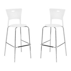 Mimi Barstool in White (Set of 2)