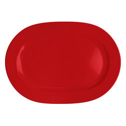 Waechtersbach - Set of 2 Oval Platters Fun Factory Red - Attractive design and bright color come together effortlessly in this set of Fun Factory Red Oval Serving Platters. Serve up meat, vegetables, fruit, and cheese. Essential at every feast, oval platters are the perfect choice for anyone who loves to entertain.