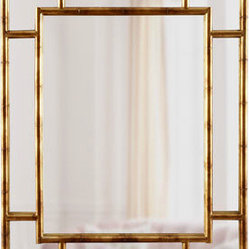 """Bamboo"" Paneled Mirror"