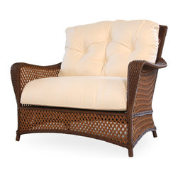 Lloyd Flanders Grand Traverse Chair and a Half Cuddle - Available in Caramel & Bisque Custom Vinyl. 37.5 H x 44 W x 33 D.