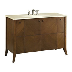 """KOHLER - KOHLER K-2497-F39 Clermont 48"""" Vanity - KOHLER K-2497-F39 Clermont 48"""" VanityOffering a sophisticated bearing and a quiet loveliness, the Clermont vanity adds a sense of style to any space. This vanity was designed with an eye toward beautiful details and subtle elegance.Please see our Delivery Notes for Freight Shipments for products that are oversized and/or are too heavy to ship UPS ground. KOHLER K-2497-F39 Clermont 48"""" Vanity, Features:• 50""""W x 21-1/2""""D x 33-1/2""""H"""