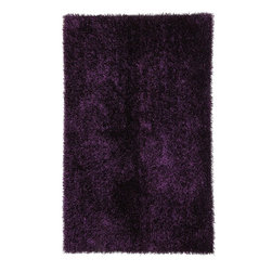 Jaipur Rugs - Shag Solid Pattern Polyester Purple/ Area Rug (7.6 x 9.6) - Personal expression reaches new heights with flux, a beautiful range of plush, hand-woven shag rugs of 100% polyester. This chameleon is ideal for the contemporary design lover who enjoys mixing up his or her personal space often acting as a rich background to a diverse palette of furnishings and accessories. Highly textured shag construction brings comfort underfoot while a palette of fashion forward solid hues commands attention in any room.