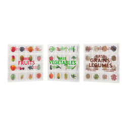 Your Food Story - Educational Wooden Magnets for Children, Collectors Set - This ultimate collectors edition includes all three collectible magnet sets: FIRST FRUITS, FIRST VEGETABLES, and FIRST GRAINS AND LEGUMES with the addition of our custom magnetic chalkboard easel.Your Food Story's collectible wooden magnets offer a simple way to help first time eaters build a visual vocabulary of the foods they eat. Use them to create a photographic diary of new food experiences, as a meal planning tool, an imaginative way to develop new food combinations, or simply for the fun of showing off your favorites! Everyone's food story is unique. What's yours? Collection Includes 3 sets of 16 wooden magnets: