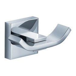 Fresca - Glorioso Robe Hook in Triple Chrome Finish - Made with heavy duty brass. Triple chrome finish. 1-Year warranty on parts. 3 in. W x 1.75 in. D x 1.5 in. HAll of our Fresca bathroom accessories are made with brass with a triple chrome finish and have been chosen to compliment our other line of products including our vanities, faucets, shower panels and toilets. They are imported and selected for their modern, cutting edge designs.