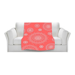 DiaNoche Designs - Throw Blanket Fleece - Infinity Coral - Original Artwork printed to an ultra soft fleece Blanket for a unique look and feel of your living room couch or bedroom space.  DiaNoche Designs uses images from artists all over the world to create Illuminated art, Canvas Art, Sheets, Pillows, Duvets, Blankets and many other items that you can print to.  Every purchase supports an artist!