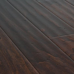 """Jasper - Jasper Engineered Hardwood - Handscraped Aspen Collection - [26.5 sq ft/box] - Cocoa / Aspen / Handscraped / 5"""" -  Known for its natural beauty and stability, the Jasper Handscaped Aspen Engineered Collection has micro beveled edges on all four sides and a precision tongue & groove locking system that makes glue, staple, nail down or float installation seamless.    Even though aspen hardness is rated 420 on the Janka Hardness Scale, this flooring is handscraped and dents or small scratches just improve the overall rustic look and feel. Where aspen is a softer hardwood, its resilience to expansion and contraction during temperature and moisture changes in its environment, as well as being less likely to warp, cup or crown, make it one of the most stable woods available in the market. Combine that with the rich texture and grain that comes naturally to aspen is sure to add a practical and stylistic appeal to your home interior."""