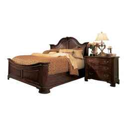 American Drew - American Drew Cherry Grove 2-Piece Mansion Bedroom Set in Antique Cherry - The 45th Anniversary Cherry Grove collection is a blending of new and old adaptations from 18th century and higher end traditional styling. Georgian, Edwardian, Sheraton along with Queen Anne elements create this beautiful assortment of furniture. Cathedral cherry veneers, alder solids and select hardwoods create a new and exciting collection of bedroom, dining room and occasional for American Drew. Cherry Grove features many new items that have been designed to fill the needs of your home along with many proven winners that have existed since the very beginning. Scale and dimensions have been addresses to better suit today's standard of living. Cherry Grove now offers you a variety of opportunities to complement multiple decorating environments. In the American Drew tradition, attention to detail and exquisite craftsmanship make every piece an heirloom. You will be investing in a timeless piece of furniture that will be cherished for generations to come.