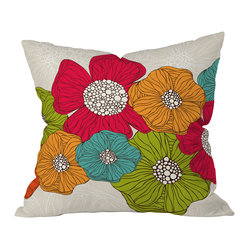 Valentina Ramos Flowers Throw Pillow, 18x18x5