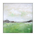 Abstract Landscape Acrylic Painting on Canvas - Dimensions: 24'x24' with a profile of about 1''