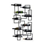 Mid Century Wine Rack - Inspired by the clean lines and creative uses of metals of the mid-20th Century, this handsome rack will take you back to Dean Martin's bachelor pad.  All that's missing is the smoking jacket.