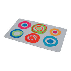 Printed Microfiber Bath Rug Vitamine Multicolor - This printed microfiber bath rug Vitamine is 100% polyester. Ultra-soft touch and sophisticated in any bathroom with its multicolor round patterns, this bath rug prevents slips with its PVC non-skid backing. Machine wash cold and no dryer. Width 17-Inch and length 29.5-Inch. Indoor use only. Color multicolor. Add underfoot softness and a perfect finishing touch to your bathroom decor with this trendy microfiber bath rug! Complete your Vitamine decoration with other products of the same collection. Imported.