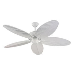 Montecarlo - Montecarlo Cruise Ceiling Fan in White - Montecarlo Cruise Model MC-5CU52WH in White with White ABS Palm Finished Blades.
