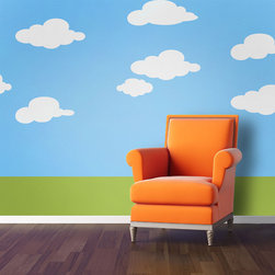 My Wonderful Walls - Simply Clouds Wall Stencil Kit for Painting - - 5 individual cloud stencils