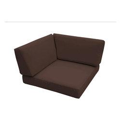 Trijaya Living - Sunbrella Universal Wicker Corner Cushion, Bay Brown - Sunbrella Universal Wicker Corner Cushion