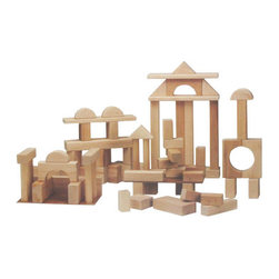 Deluxe Block Set By Beka - Even though he won't be able to play with these right away, they could make very handsome room decor.