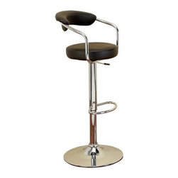 """BZBZ87004 - Chrome Vinyl Bar Chair 43""""H, 20""""W - Chrome Vinyl Bar Chair 43""""H, 20""""W. If you are left with small space in your room and you want to use this space purposely, have a look over 87004 Chrome Vinyl Bar Chair designed for comfortable extended hours."""