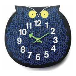 Control Brand - George Nelson Owl Clock - Who?s there? Omar the Owl, designed in 1965 by George Nelson, is still a hoot. Perfect for kids? rooms or anywhere you want to add some zoo-timer fun. This is quality material reproduction, quartz movement powered by one AA battery, not included. Control Brand - G091101-OWL