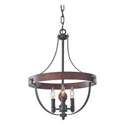 Murray Feiss - Murray Feiss F2797/3AF/CBA Alston 3 Bulb AF/Charcoal Brick/Acorn Chandelier - Murray Feiss F2797/3AF/CBA Alston 3 Bulb AF/Charcoal Brick/Acorn Chandelier