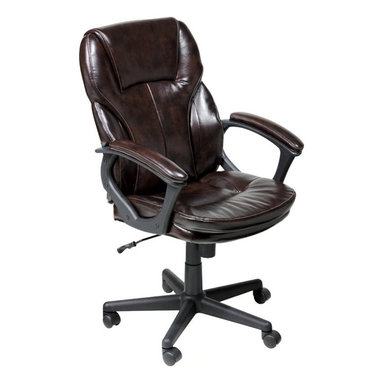 Serta by True Innovations - Serta Manager Office Chair in Brown Puresoft Faux Leather - Serta by True Innovations - Office Chairs - 43669 - About This Product:
