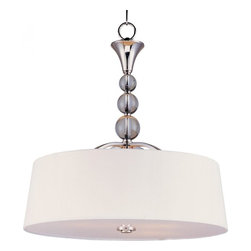 Maxim - Maxim Rondo Four Light Polished Nickel Foyer Hall Pendant - This Four Light Foyer Hall Pendant is part of the Rondo Collection and has a Polished Nickel Finish. It is Dry Rated.