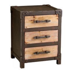 Joshua Marshal - Raw Iron / Natural Wood Chester Storage Table - Raw Iron / Natural Wood Chester Storage Table