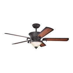 """Kichler - Kichler 300010DBK High Country 56"""" Indoor Ceiling Fan 5 Blades - Remote, - Kichler 300010 High Country Ceiling Fan"""
