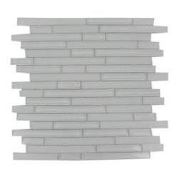 Italian Pure White 1/2 x Random Pattern Glass Tile, Sample - Random Bricks Pattern Zen Beach Polished Mesh-Mounted Glass Mosaic Tile is a great way to enhance your decor with a traditional aesthetic touch. This Mosaic Tile is constructed from durable, impervious Glass material, comes in a smooth, unglazed finish and is suitable for installation on floors, walls and countertops in commercial and residential spaces such as bathrooms and kitchens.