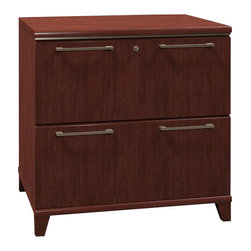 "BBF - Bush Enterprise 30""W 2-Drawer Lateral File in Harvest Cherry Finish - Bush - Filing Cabinets - 2954ACS03 -"