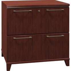 "Bush - Bush Enterprise 30""W 2-Drawer Lateral File in Harvest Cherry ..."