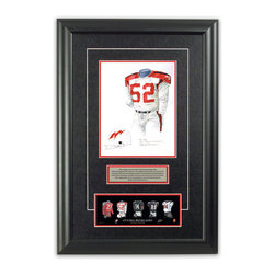 "Heritage Sports Art - Original art of the CFL 1962 Ottawa Rough Riders uniform - This beautifully framed piece features an original piece of watercolor artwork glass-framed in an attractive two inch wide black resin frame with a double mat. The outer dimensions of the framed piece are approximately 17"" wide x 24.5"" high, although the exact size will vary according to the size of the original piece of art. At the core of the framed piece is the actual piece of original artwork as painted by the artist on textured 100% rag, water-marked watercolor paper. In many cases the original artwork has handwritten notes in pencil from the artist. Simply put, this is beautiful, one-of-a-kind artwork. The outer mat is a rich textured black acid-free mat with a decorative inset white v-groove, while the inner mat is a complimentary colored acid-free mat reflecting one of the team's primary colors. The image of this framed piece shows the mat color that we use (Red). Beneath the artwork is a silver plate with black text describing the original artwork. The text for this piece will read: This original, one-of-a-kind watercolor painting of the 1962 Ottawa Rough Riders uniform is the original artwork that was used in the creation of this Ottawa Renegades uniform evolution print and thousands of other Ottawa Rough Riders products that have been sold across North America. This original piece of art was painted by artist Nola McConnan for Maple Leaf Productions Ltd. Beneath the silver plate is a 3"" x 9"" reproduction of a well known, best-selling print that celebrates the history of the team. The print beautifully illustrates the chronological evolution of the team's uniform and shows you how the original art was used in the creation of this print. If you look closely, you will see that the print features the actual artwork being offered for sale. The piece is framed with an extremely high quality framing glass. We have used this glass style for many years with excellent results. We package every piece very carefully in a double layer of bubble wrap and a rigid double-wall cardboard package to avoid breakage at any point during the shipping process, but if damage does occur, we will gladly repair, replace or refund. Please note that all of our products come with a 90 day 100% satisfaction guarantee. Each framed piece also comes with a two page letter signed by Scott Sillcox describing the history behind the art. If there was an extra-special story about your piece of art, that story will be included in the letter. When you receive your framed piece, you should find the letter lightly attached to the front of the framed piece. If you have any questions, at any time, about the actual artwork or about any of the artist's handwritten notes on the artwork, I would love to tell you about them. After placing your order, please click the ""Contact Seller"" button to message me and I will tell you everything I can about your original piece of art. The artists and I spent well over ten years of our lives creating these pieces of original artwork, and in many cases there are stories I can tell you about your actual piece of artwork that might add an extra element of interest in your one-of-a-kind purchase."