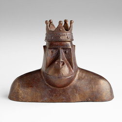Cyan Design - King Kercheck Sculpture - King kercheck sculpture - acid brown