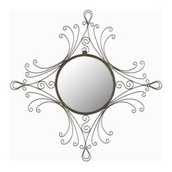Safavieh - Safavieh Maltese Traditional Mirror X-A9003RIM - Reminiscent of the metal work of the Art Nouveau and Victorian eras, the Maltese Mirror with its gracefully curved frame adds an old world glamour to any room.