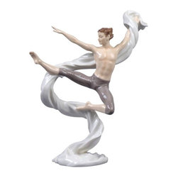 US - 9.75 Inch Porcelain Figure Boy Gymnast in Grey Tumbling with Sash - This gorgeous 9.75 Inch Porcelain Figure Boy Gymnast in Grey Tumbling with Sash has the finest details and highest quality you will find anywhere! 9.75 Inch Porcelain Figure Boy Gymnast in Grey Tumbling with Sash is truly remarkable.
